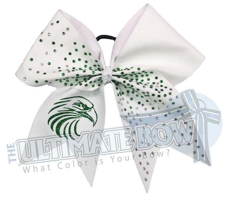Fly-Eagles-fly-high-rhinestone-glitter-white-emerald-green-cheer-bow-full-glitter