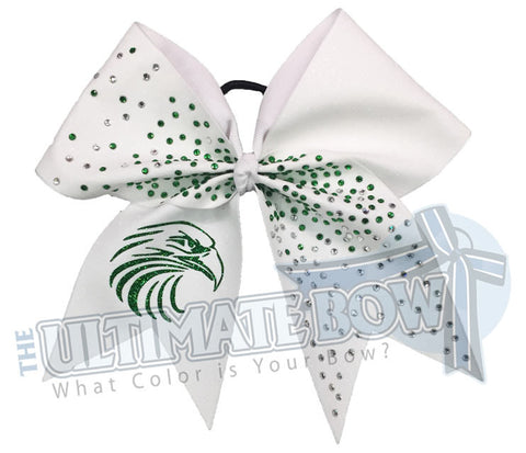 Fly High Eagles - Full Glitter and Rhinestone Bow