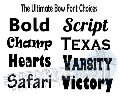 Font Options | The Ultimate Bow Personalization Options | Custom Cheer Bows