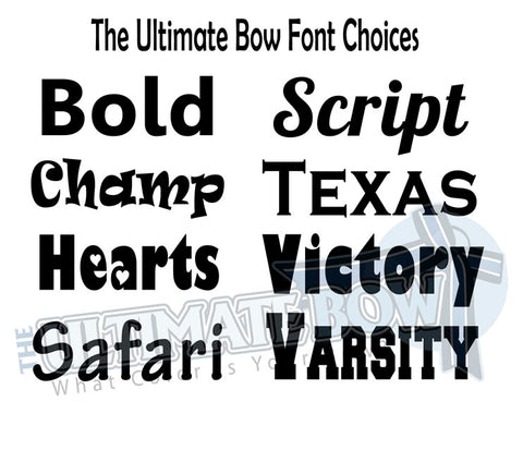 The Ultimate Bow Font Options | Personalized Cheer Bows | Text Options