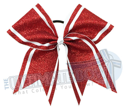 Full Glitter Sidelines - Cheer Bow | Cheerleading Hair Bow