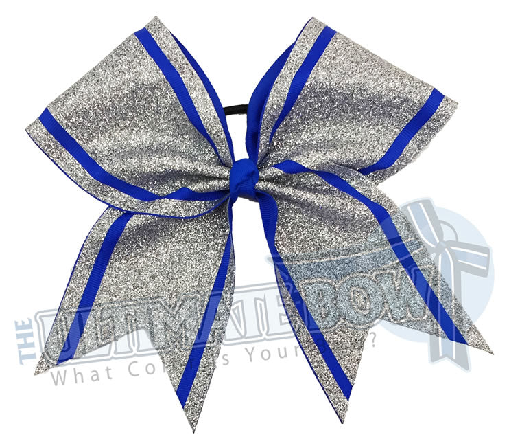 full-on-glitter-cheer-bow-silver-glitter-electric-blue-softball-sparkle-sideline-stripes-glitter