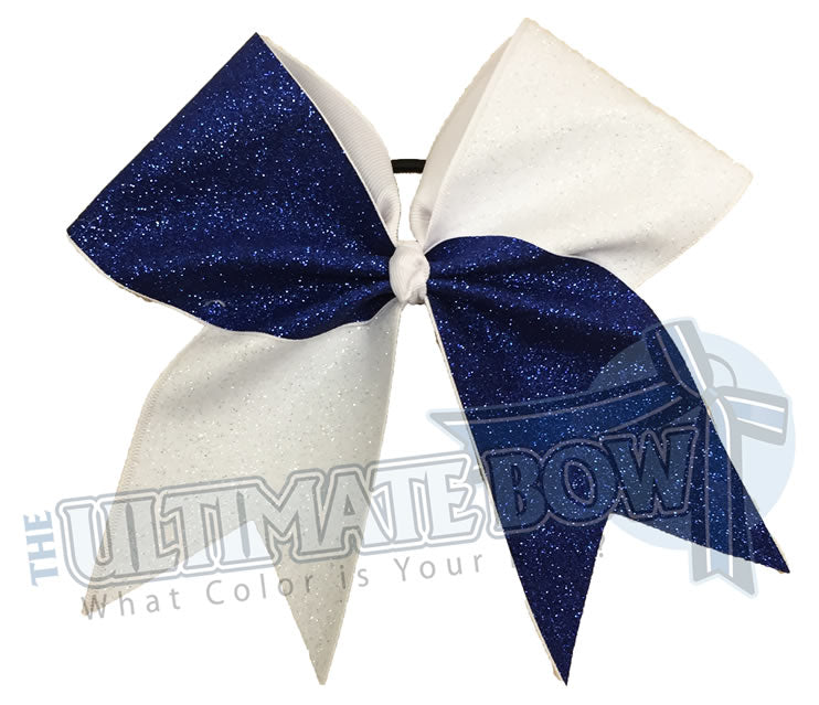 full-on-glitter-cheer-bow-royal-white-glitter-softball-sparkle-tick-tock-half-split-two-tone