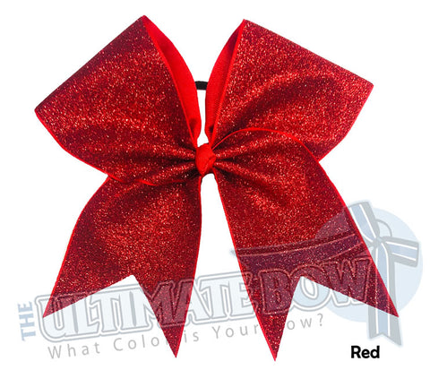 Full On Glitter Cheer Bow | Red Cheer Bow | Glitter Cheer Bow | Red Glitter
