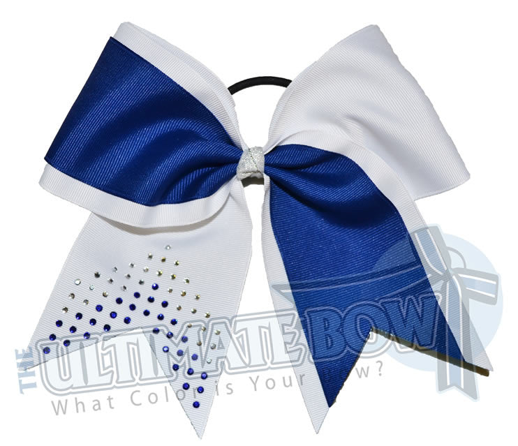 game-on-rhinestone-chevron-grosgrain-ribbon-texas-sized-cheer-bow-softball-royal-blue-white-cobalt-rhinestones