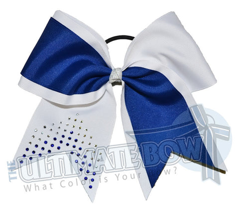 Game On Rhinestone Chevron Cheer Bow | Football Cheer Bows