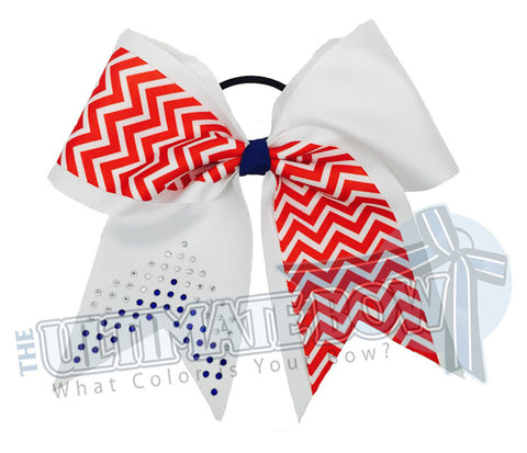 Game On Rhinestone Chevron Bling