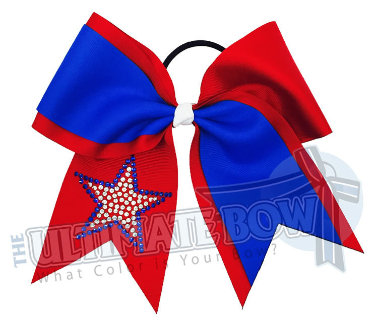 game-on-rhinestone-star-grosgrain-ribbon-texas-sized-cheer-bow-patriotic-bow-softball-red-electric-blue