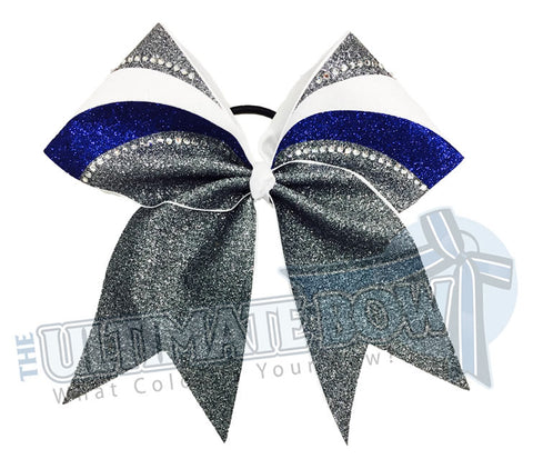 arch-rhinestone-glitter-grey-cobalt-royal-blue-white-cheer-bow-full-glitter