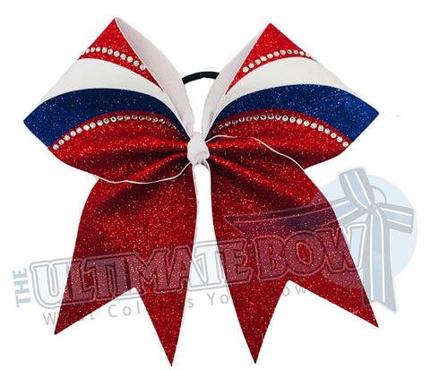 Rhinestone Glitter Arch - Cheer Bow | Competition Cheer Bow