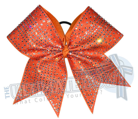 Glitter Rhinestone Illumination Cheer Bow | Rhinestone Competition Cheer Bow