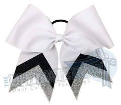 sideline-glitter-stripes-metallic-silver-black-white-cheer-bow-glitter-varsity-cheer-softball-school-recreational-cheer