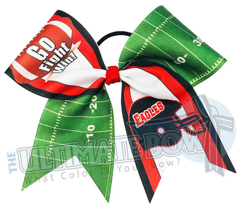 Go Fight Win - Football Cheer Bow | Team Cheer Bow