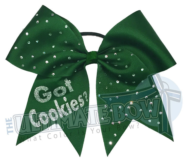girl-scout-got-cookies-rhinestone-hair-bow-juniors-seniors-green-scouts-cookietime