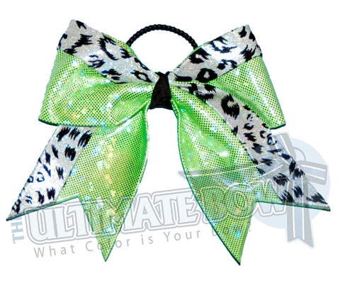 graceful-leopard-cheer-bow-lime-green-white-snow-leopard