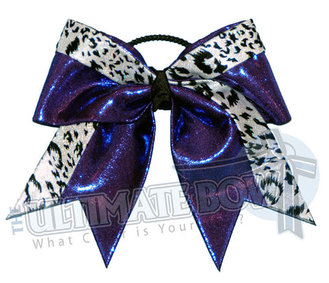 Graceful Leopard Cheer Bow | Animal Print Mystic Cheer Bow