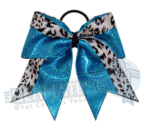 graceful-leopard-cheer-bow-turquoise-white-snow-leopard