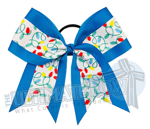 Christmas-lights-Blue-holiday Christmas Holiday Lights Cheer Bow