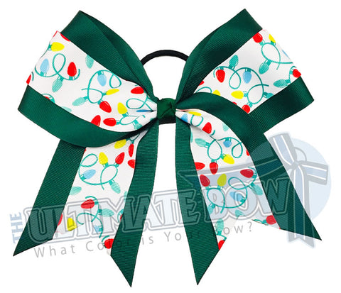 Christmas-lights-green-holiday Christmas Holiday Lights Cheer Bow