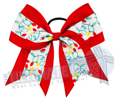 Holiday Lights Cheer Bow | Christmas Hair Bow