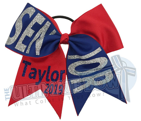 Senior-year-class-2019-Tick Tock-glitter-personalized-cheer-bow-softball-bow-practice-bow-cheerleading-graduation