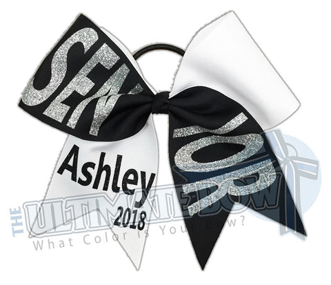 Senior-year-class-2018-Tick Tock-glitter-personalized-cheer-bow-softball-bow-practice-bow-cheerleading