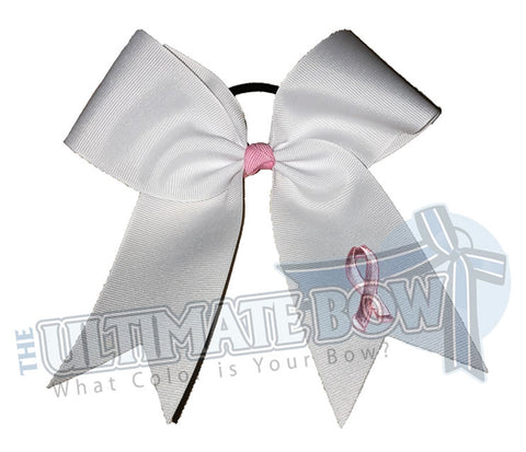 I Support Awareness Cheer Bow | Breast Cancer Awareness Cheer Bow
