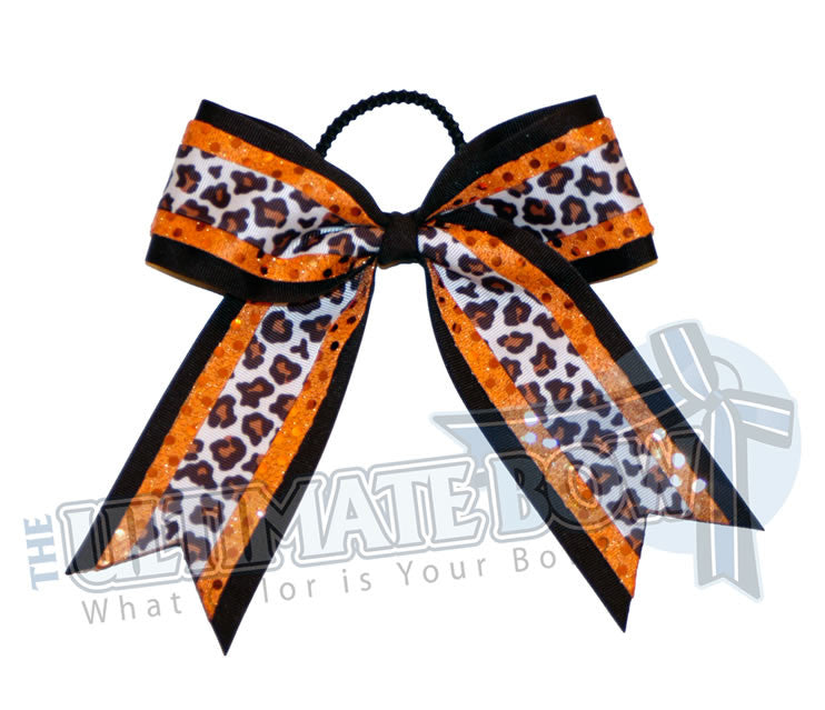 jungle-fever-sequin-dot-cheer-bow-black-orange-white-big-cat-ribbon