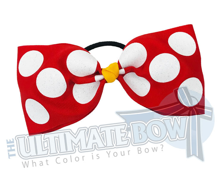 Just loops | Tailless | glitter-polka-dots-cheer-bow-red-white-glitter-softball-sparkle-minnie-disney