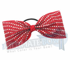 rhinestone-glitter-red-crystal-clear-rhinestones-just-loops-tailless-no-tails-cheer-bow-full-glitter-cheer bows