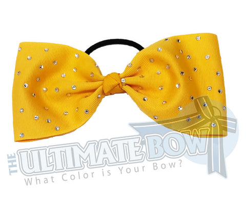 tailless summer-fling-rhinestone-scatter-grosgrain-yellow gold-cheer-bow
