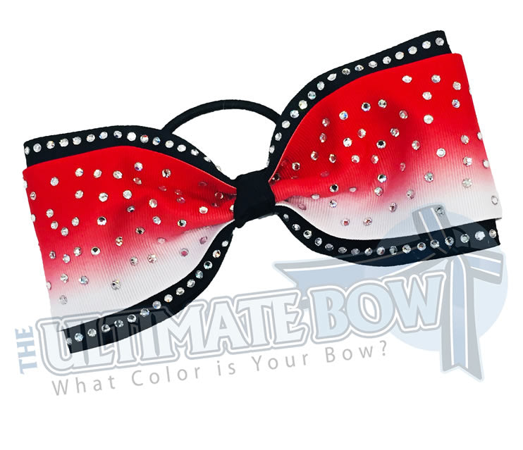 Just-Loops-Tailless-tail-less-no tails-rhinestone-ombre-effect-rhinestone-red-white-black-cheer-bow-cheer-camp-sideline