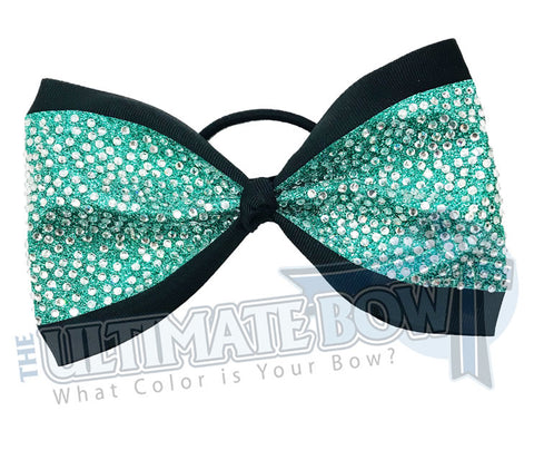 Just Loops - Ultimate Glitter Penthouse Tailless Cheer Bow | 4-inch Cheer Bow