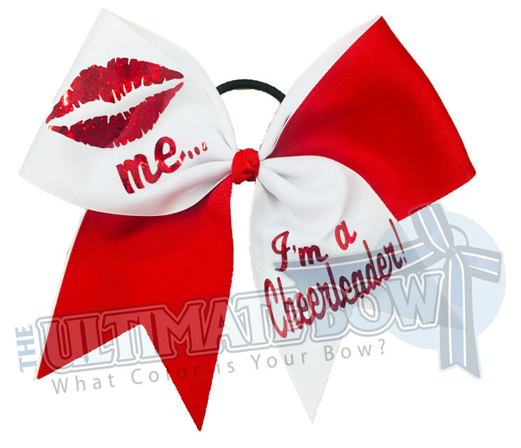 Superior-Valentine's Day - Cheer Bow -lips-kiss-me-cheer-bow-red-hologram