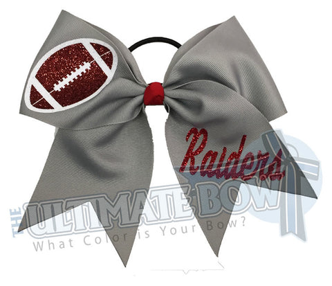 Let's Go Team - Football Cheer Bow
