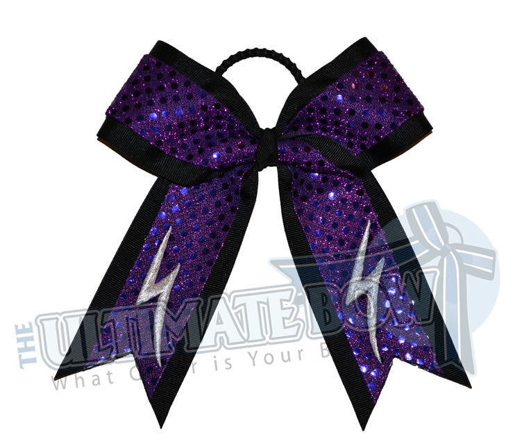lightning-storm-sequin-cheer-bow-purple-black-silver