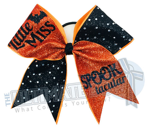 Little-Miss-spooktacular-glitter-rhinestone-orange-black-texas-sized-halloween-cheer-bow-softball-bow-holiday-hair-bow