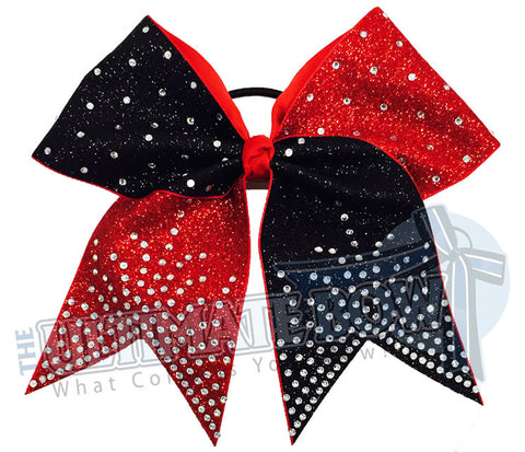 Majestic Glitter and Rhinestones Cheer Bow