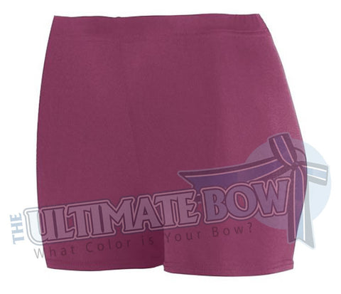 Ladies-Spandex-spanks-boy-cut-shorts-maroon-1210-Augusta-Sportswear-cheerleading-softball-soccer-volleyball-workout