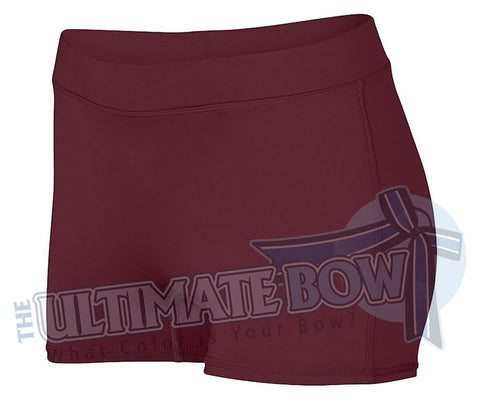 Ladies-Dare-Spandex-spanks-boy-cut-shorts-maroon-1232-Augusta-Sportswear-cheerleading-softball-soccer-volleyball-workout