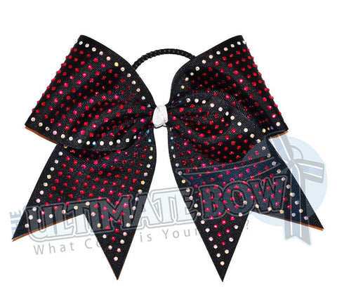 maximum-energy-rhinestone-cheer-bow-hot pink-black-crystal-clear