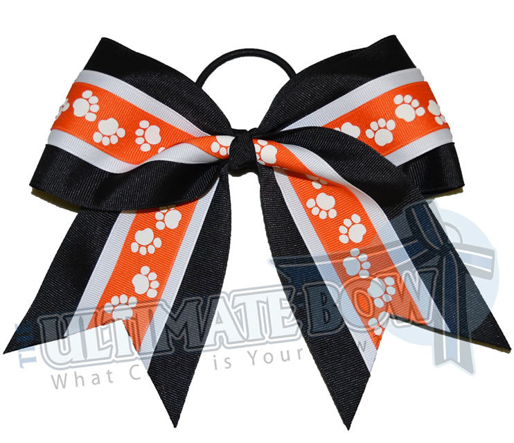 mighty-roar-paw-print-ribbon-cheer-bow-black-orange-white