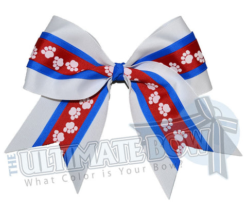 mighty-roar-paw-print-ribbon-cheer-bow-red-electric-blue-white