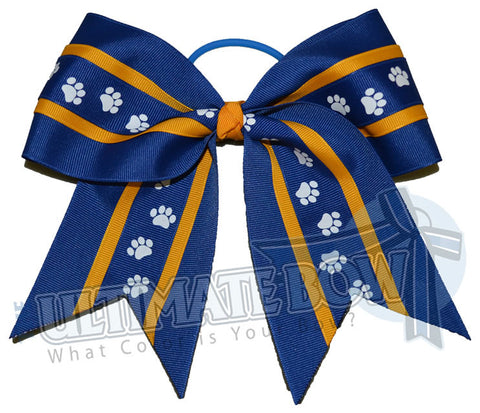 mighty-roar-paw-print-ribbon-cheer-bow-royal-blue-yellow-gold-white