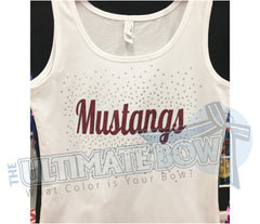 Mustang-Football-mom-rhinestone-tank-top-black-white-maroon-glitter
