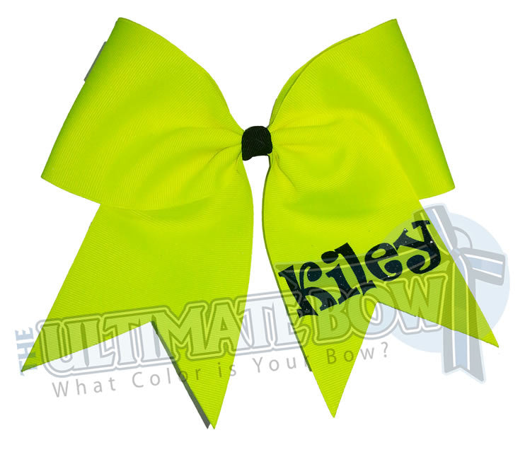 personalized-cheer-bow-my-bow-neon-yellow-black-glitter