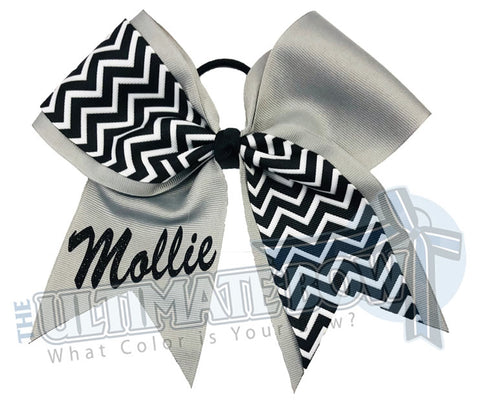 My Chevron Cheer Bow | Softball Bow