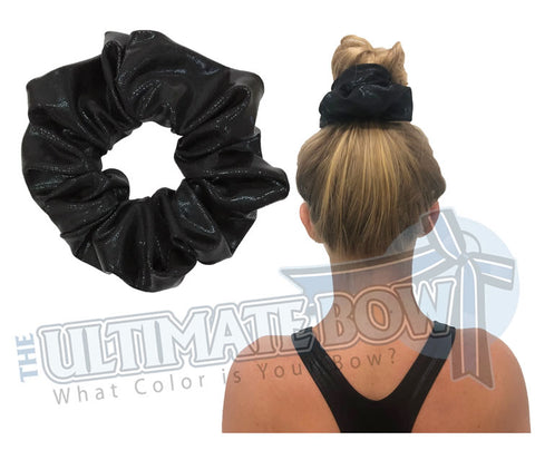 Black Mystic Diva Scrunchies | metallic srunchies | Mystic Scrunchies | Mystique Material Scrunchies | Cheer Scrunchies | Gymnastics Scrunchies | Cheer Practice Scrunchies