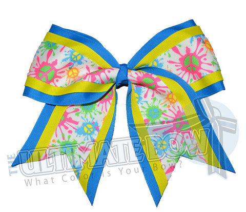 neon-peace-cheer-bow-turquoise-yellow