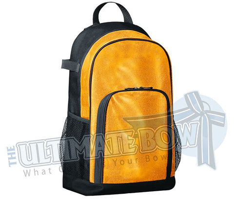 Yellow Gold sparkle glitter back pack | cheer-bag-softball bag | Augusta-1106 | All Out Glitter Back Pack